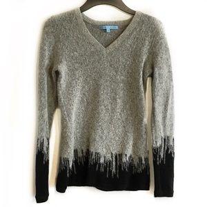 Antonio Milani Gray small cityscape wool sweater